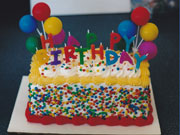 Happy Birthday Candles Cake with Sprinkle Sides