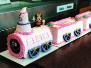Minnie Train Custom Cake