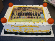 Photo cake with basketball team